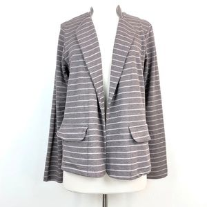Anthropologie Dolan Left Coast Stripe Blazer Taupe